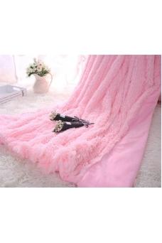 Плед ніжно рожевий травка