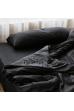 Чорний страйп сатин люкс